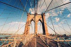 Brooklyn Bridge Sunset III (Philipp Klinger Photography) Tags: new york city nyc newyorkcity trip travel bridge light sunset shadow vacation sky usa sun ny newyork art water lines skyline architecture brooklyn clouds america skyscraper river square geotagged pier us nikon cityscape geometry manhattan steel united unitedstatesofamerica von pillar cable rope symmetry ponte east cables pile crossprocessing brooklynbridge highrise column states railing amerika philipp rectangle hdr staaten klinger vereinigtestaatenvonamerika vereinigte of estaiada d700 ponteestaiada dcdead