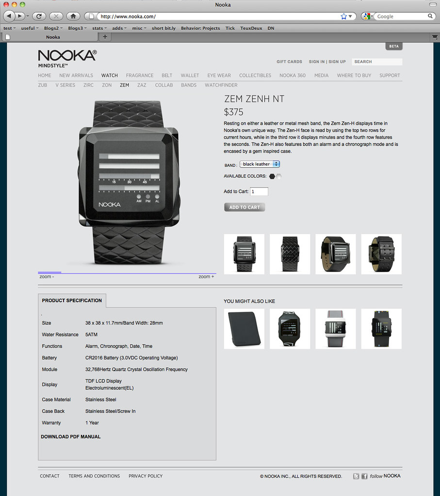 Nooka Product Detail Page