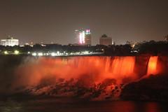 American Falls (lelizard) Tags: red night niagarafalls americanfalls bridalfalls