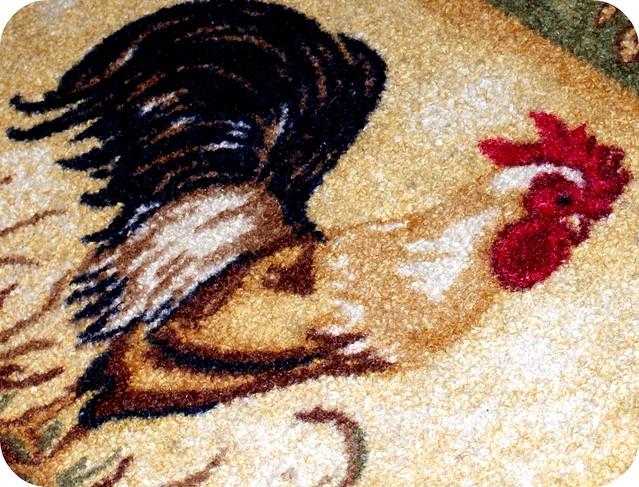 rooster rug