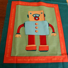 Sewgentle's Mini for Me - Robot Panel - Love Bot
