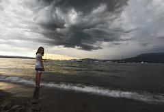 Waiting (janusz l) Tags: park longexposure sea storm beach vancouver clouds dark boats coast waiting englishbay vanier maritimemuseum kasia hadden janusz leszczynski 010756