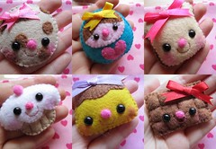 Kawaii brooches by me ( KawaiiCloud ) Tags: cookie chocolate brooch pudding cupcake kawaii brooches matrioska
