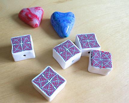 Glazed beads
