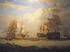 Lord Anson's arrival at Spithead with Prizes After May 3 1747 Cape Finisterre Action by John Christian Schetky 1778-1875 Oil on Canvas (mharrsch) Tags: california museum painting ship sail fleet ventura sailingships oiloncanvas capefinisterre 18thcenturyce spithead mharrsch snaptweet venturacountymaritimemuseum johnchristianschetky lordanson