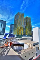 Las Vegas City Center Buildings and Monorail