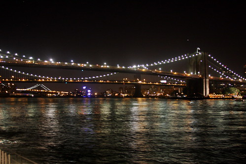 Bridges in NY at night