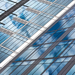grid(ness) (slavekR) Tags: blue windows sky dublin white abstract detail reflection glass lines architecture clouds grid grey pov perspectives line diagonal madness views unusual vain skyscrapper platinumphoto unusualviewsperspectives