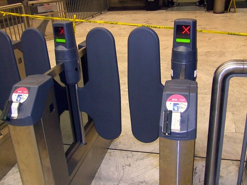 Muni New Faregates - Civic Center Station Secondary Gates