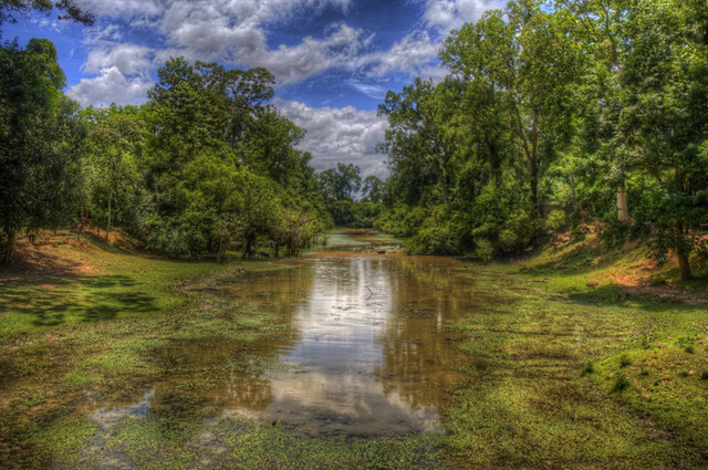 Angkor River in HDR