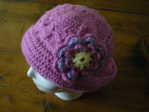 Crochet hat (child) from above
