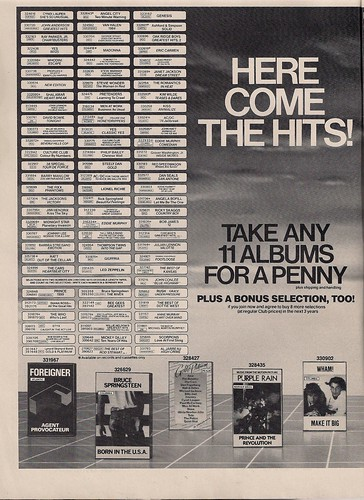 May 1985 Columbia House Music Club Ad (1-2)