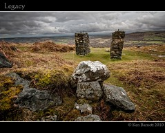 Legacy (K_D_B (One Eye On The Sky)) Tags: wall canon moss rocks newport bracken plinth plinths 30d sigma1020mm kdb carningli theunforgettablepictures