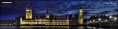 Westminster (Christopher Imrie) Tags: panorama westminster night housesofparliament bigben hdr