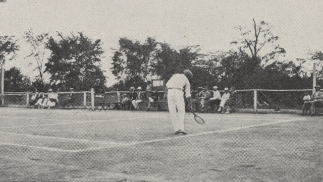 Tennis Match in Miller Park, 1918