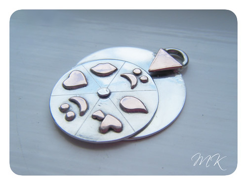 sterling and copper mood pendant 5