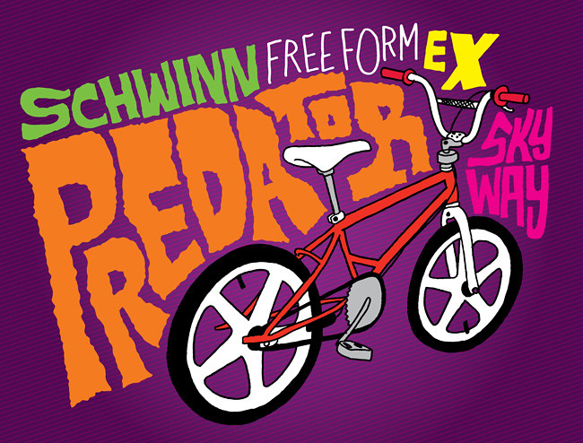 Schwinn Predator Freeform EX BMX drawing