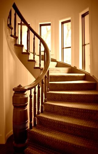 Sepia Spiral Staircase