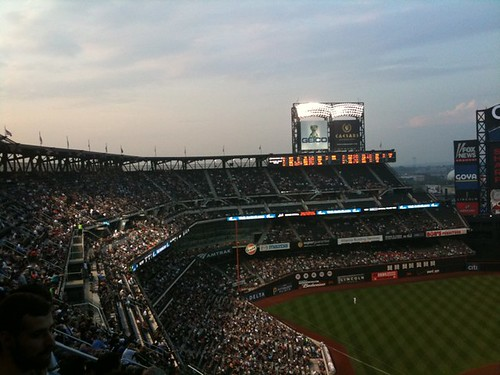 Filled up. Clearly sold a lot of seats but ppl did not show. #mets