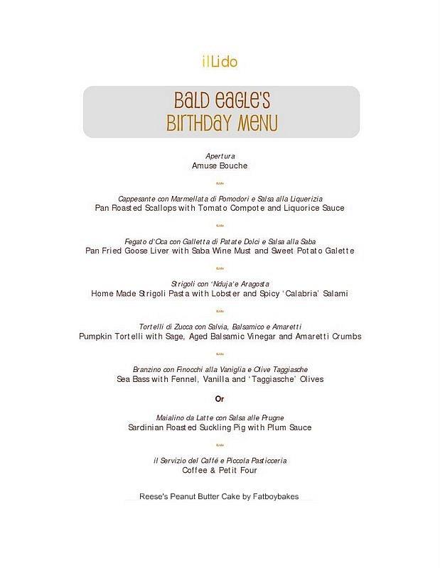 il lido menu