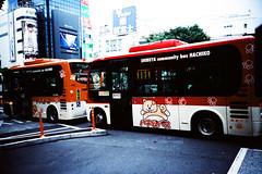 Minibus (Markus Moning) Tags: bus film public japan analog 35mm tokyo lomo lca xpro lomography community cross transport shibuya ct x processing pro nippon 100 lc agfa processed tokoy verkehr minibus hachiko tokio moning precisa v ffentlicher markusmoning