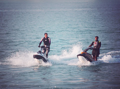 (Desperate.) Tags: sea playing brothers enjoyment 3abood jetskies godblessthem averyspecialmoment 3abdulla 3abad hatemyeditlovedtheshotmoment3 bothani enjoyingtheretime3