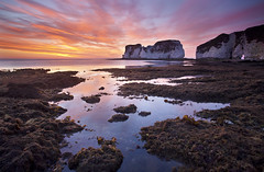 Old Harry Rocks (antonyspencer) Tags: old uk seascape west sunrise landscape dawn coast rocks path south harry unesco dorset spencer antony jurassic purbeck studland