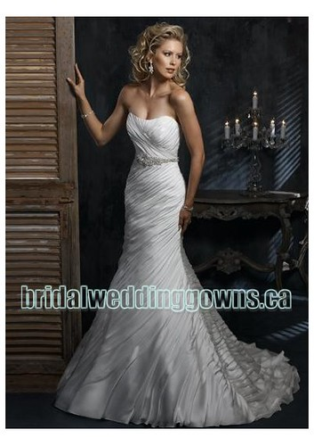 chiffon mermaid wedding dress