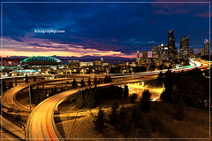 Downtown Seattle I90 I5 (Vincent Loi) Tags: seattle park sunset field washington nikon downtown cityscape nightscape nightshot i5 dr magic tripod jose d2x creation hour safeco kits wa rizal soe i90 qwest mywinners colorphotoaward bestofmywinners