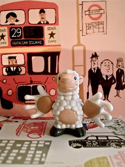 LOST IN LONDON (toypincher) Tags: london toy lost sheep buss