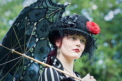 Castlefest 2010, Charlotte (Qsimple, Memories For The Future Photography) Tags: castlefest netherlands lisse halfweg nld provinciezuidholland qsimple castlefest2010 harvestfeastlughnasadh oogstfeestlughnasadh 2010 vanaevents portrait woman cute art girl beautiful beauty face look fashion closeup lady female pose fun costume model glamour looking expression young makeup style fairy fantasy attractive glam sensuality hairstyle facial vamp stylish elegance mystery outdoors person women theater pretty mask dancing masquerade celtic role costumes girls people music castle colors festival eyes fair medieval elf fest armour crowds roleplay lastfm:event=1292423 renaissancefair elffantasy ssss