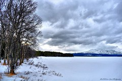 Swedish Lake (Wilamber) Tags: trees lake snow mountains cold travelling ice grass clouds frozen interesting sweden exploring william swedish lord explore exploration chard explored tripleniceshot mygearandmepremium mygearandmebronze lordwilliamchard wwwlordwilliamchardcouk