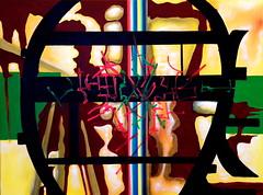The Central Shaft (Jimmy McCullough) Tags: sanfrancisco art colors painting weird lab san francisco media colorful paint artist acrylic surrealism jimmy canvas painter dada artbrut occult avant garde avantgarde brut mccullough fluxus rompida sanfranciscoartist jimmymccullough rompidamedialab