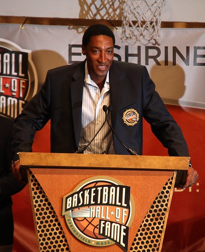 Scottie Pippen thanks his family and friends