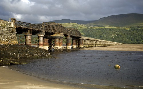 Looking Up At Barmouth Railway Bridge