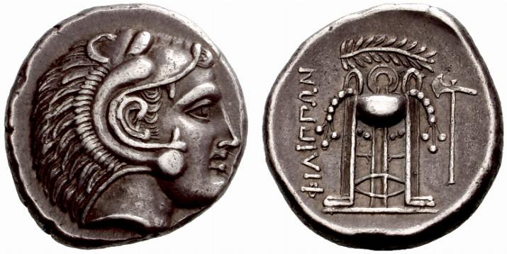 A Rare Greek Silver Tetradrachm of Philippi (Macedon), Among the Finest Known