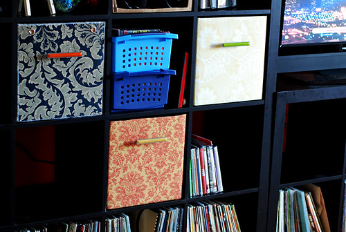 fabric drawers!