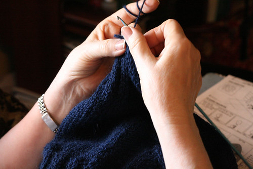 Abuela Crocheting