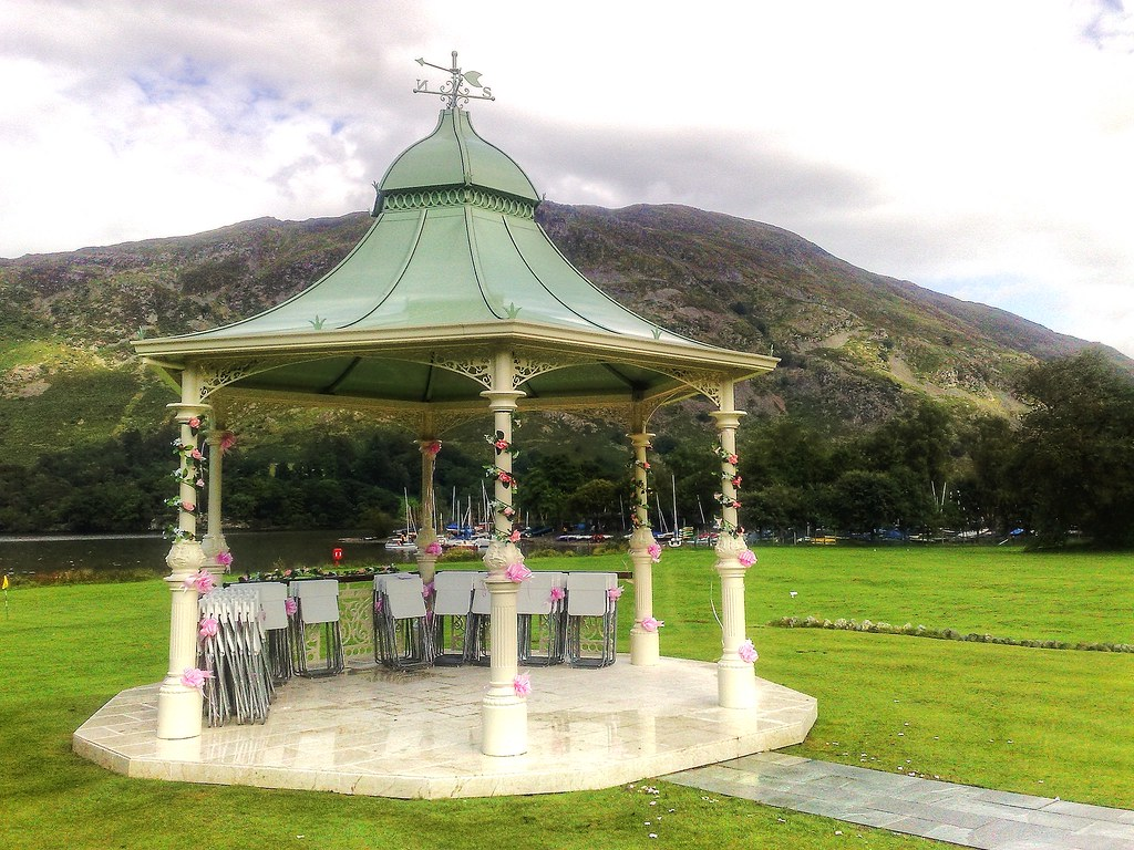 Wedding Gazebo The Inn on the Lake Glenridding Ullswater Cumbria