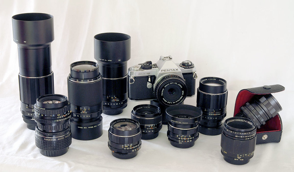 Pentax Takumar collection with ME Super