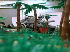 M1A3 on the prowl (Aleksander Stein) Tags: infantry army us lego display military battle scifi collaborative armour nato 2010 ndc cbu nbr brickfair