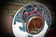 Musical Reflection (CL Photographs) Tags: world street usa nikon magic main band sigma kingdom disney waltdisneyworld walt brass emporium magickingdom mainstreetusa 18200mm d90