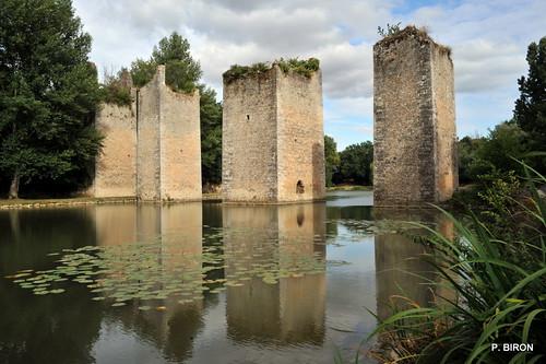 Piles du Pont médiéval de Lussac-les-Châteaux - Vienne