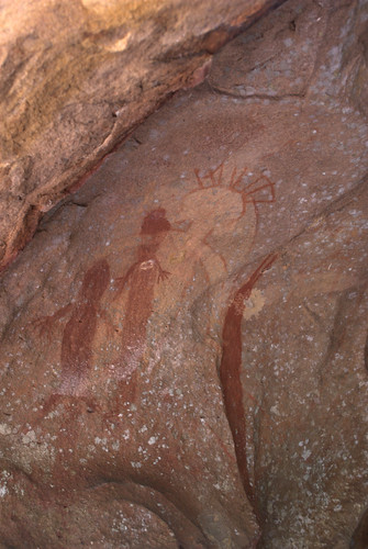 Rock painting on Guurrbi tour