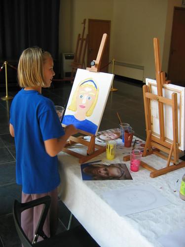 Zomeratelier 2010 Schilder je eigen portret, Rubenshuis
