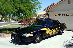 Maricopa County Sheriff's Office patrol car. (Pyrat Wesly) Tags: arizona ford gimp sheriff crownvictoria patrolcar mcso