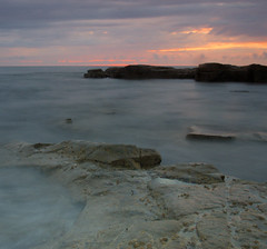 Cresswell at the end of the Sunrise (Michael Brewis (Northumbrian Blue)) Tags: sea seascape water pool rock landscape geotagged bay coast landscapes waves tide north shoreline wave olympus northumberland shore northumbria northsea coastline cresswell cokinfilter rockformation northeastengland e620 olympuse620