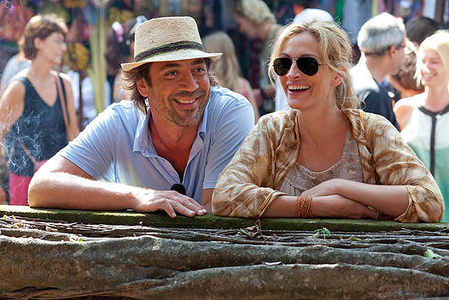 Javier Bardem is the charmer Julia Roberts falls for last in 'Eat Pray Love'.