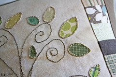 TreePillow: 2 detail (craft:nosis) Tags: tree bird modern quilt stitch linen embroidery cage pillow patchwork applique cushion