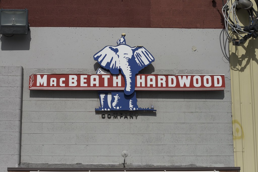 Mac Beath Hardwood sign.